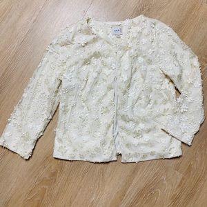 🎉5 for $25🎉 eci Floral Appliqué Jacket